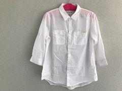 七分袖/白/シャツ/Lサイズ