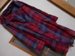 フォーエバー21*七分袖薄手赤ブラウスM*クリックポスト164円