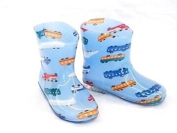 モンフレール レインブーツ 7008 18.0cm でんしゃブルー 長靴