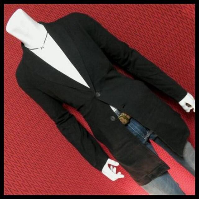 GarconWaveコットンコーディガン ロングコート/BLK/M < 男性ファッションの