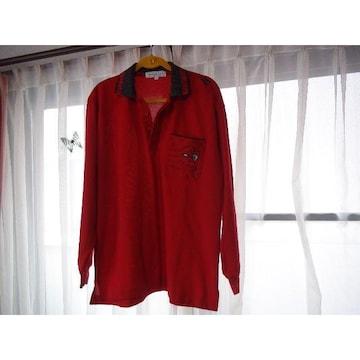 WIKE&LONのポロシャツ(LL)赤 !。
