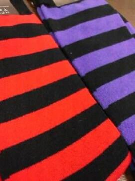 新品◆靴下�A足セット◆ボーダー柄(定番)◆バラ売り不可◆