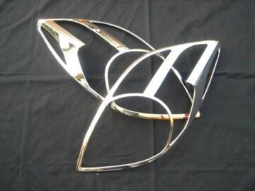 トヨタ メッキヘッドライトリング ヴィッツ 9#系