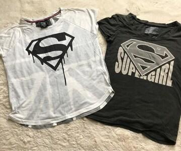 SUPER GIRL  激かわTシャツ2点セット  Mサイズ