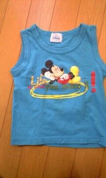 ミッキーマウス青いトップス(95�a)