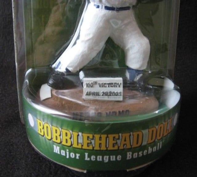 野茂英雄 ドジャース時代 ボブルヘッド MLB100勝記念 未開封 < レジャー/スポーツの