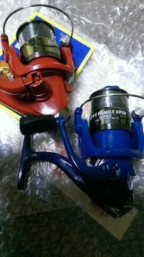 ちょい投げZappyリールのみ2色で送料込み♪red&blue
