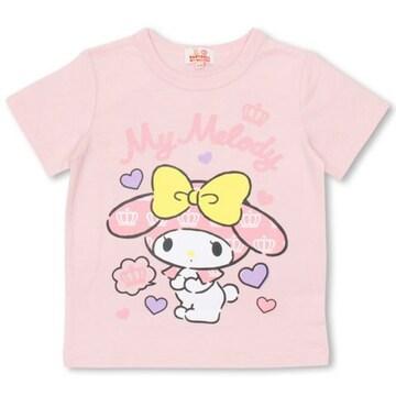 新品BABYDOLL☆110 マイメロディ Tシャツ ハート  ピンク ベビードール