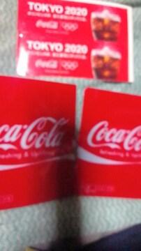 コカ・コーラ【ミニステッカー&ダミーラベル】非売品