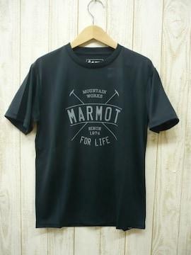 即決☆マーモット特価 アーチ半袖Tシャツ BLK/XLサイズ 速乾