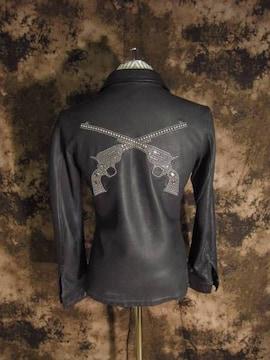 プレミア品(定価598500)roarロアー×naru・二丁拳銃レザーシャツ