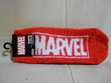 MARVEL(マーベル)もっこもこ靴下 ロゴ/レッド