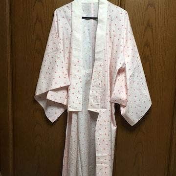 大きいサイズとっても素敵な長襦袢ピンクに小花柄光沢感有り正絹