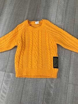 ジャンクストアー男女OK暖か黄色セーター110