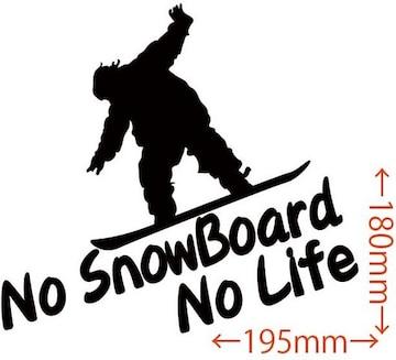ステッカー No SnowBoard No Life (スノーボード)・20