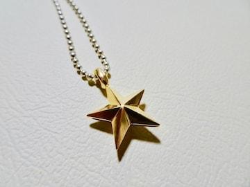 仁尾彫金『ゴールド立体スターペンダントリバーシブル』172