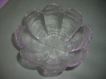 クモリガラスのお皿 中古