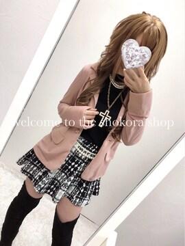 新品*ピンクミックス テーラードジャケット