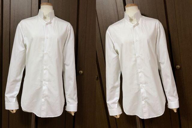 正規良 Dior Hommeディオールオム 細身ドレスシャツ白 ホワイト 37 XXS エディ期6H < ブランドの