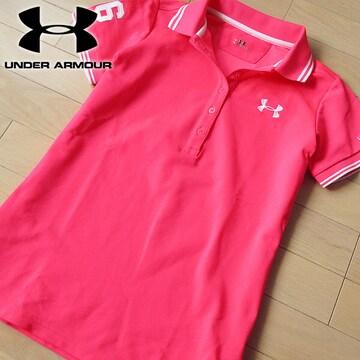 超美品 S アンダーアーマー レディース 半袖ポロシャツ ピンク