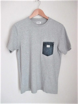 ☆DIESEL ディーゼル デニムポケット Tシャツ 半袖/メンズ/XS☆グレー