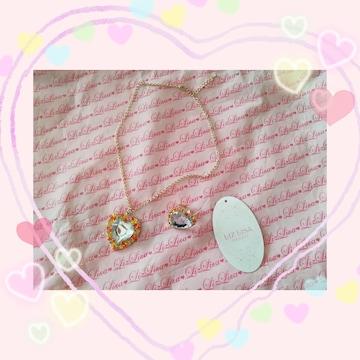 新品☆リズリサ*キラキラハートネックレス&指輪セット