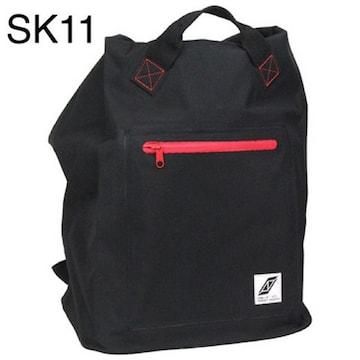 新品 【SK11】防水バックパック PVC SWP-BPブラック[45947]