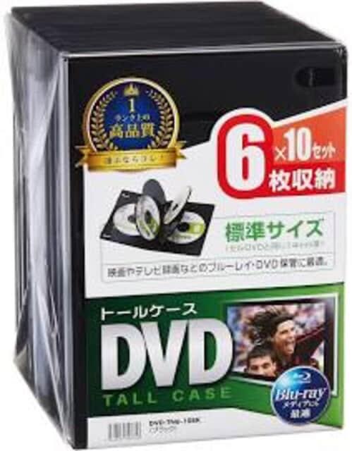色ブラック サイズ6枚収納 サンワサプライ DVDトールケース 6枚  < CD/DVD/ビデオの