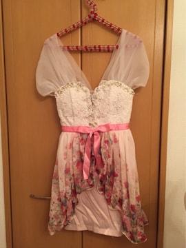 美品ビジュー付きミニドレス