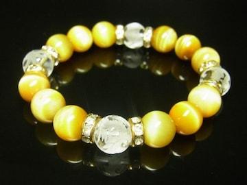 売れ筋 四神獣本水晶×ゴールデンタイガーアイブレスレット 10ミリ数珠