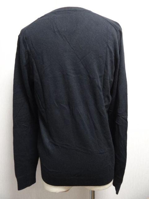 1806 アバクロ アイコンVネックセーター BK サイズL < ブランドの