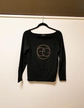 EGOIST◆エゴイスト黒×goldデカロゴニット◆セーター