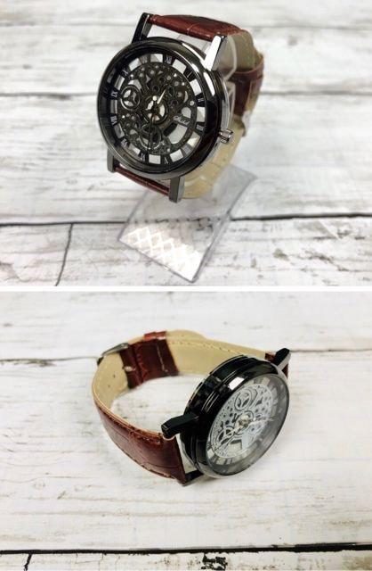 腕時計 ギリシャ文字 アナログ メンズ クォーツ 時計 ホワイト < 男性アクセサリー/時計の