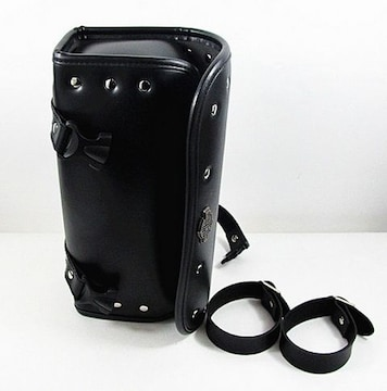 バイク用 サイドバッグ ツールバッグ  ブラック ベルト付き