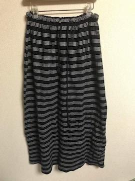 ★CROSS TALK CLUB ボーダー×スウェットロングスカート  W62〜72★�C