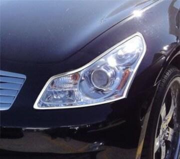 日産 メッキヘッドライトリング スカイライン V36 セダン