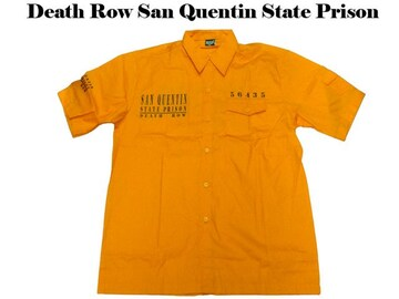 新品 ローライタ・b系・ワークシャツDeath Row San Quentin 2XL