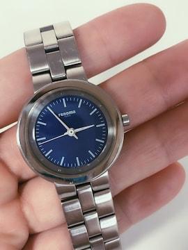 T132 renoma レノマ レディース 腕時計 ブルー文字盤 クォーツ