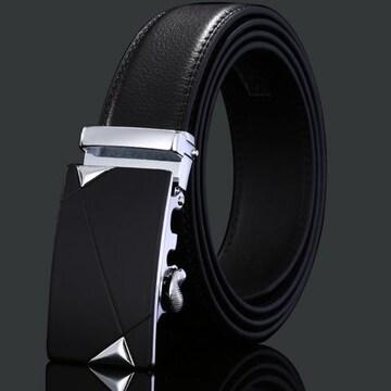 オートロック式 本革高級ベルト 110cm〜125cm 長さ選択 62