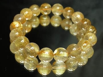 財を成すパワーストーン!!金針水晶タイチンルチル10ミリ数珠ブレスレット