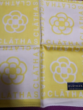 レア 新品 CLATHAS  クレイサス 大判 ハンカチ 黄色 イエロー