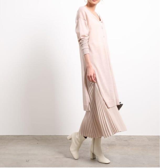 Rope mademoiselle プリーツスカートセットニットワンピース < ブランドの