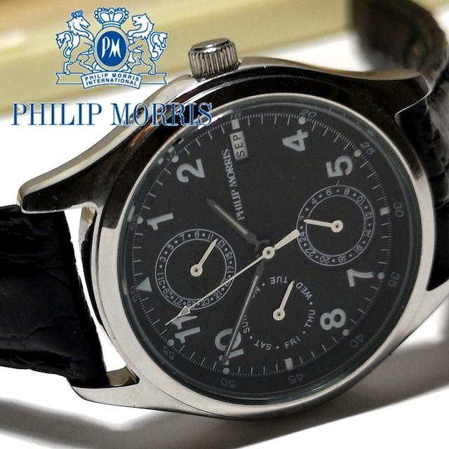 【箱付き】1スタ★Philip Morris【4カレンダー】激レア 腕時計