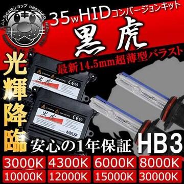 HIDキット 黒虎 HB3 35W 10000K ハイビームに キセノン ディスチャージ エムトラ