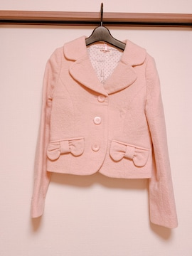 EmilyTempleCute リボンポケットジャケット ピンク