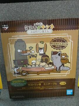 タヌキとキツネ「お山のパン屋さん ミニテーブル」(倉)