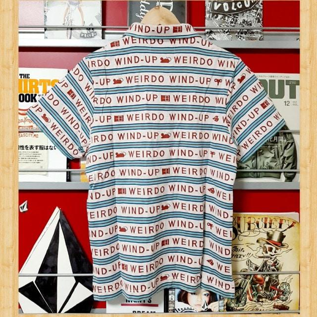 購入12390円 WEIRDO 総柄 ポロシャツ WIND-UP S GLADHAND < 男性ファッションの