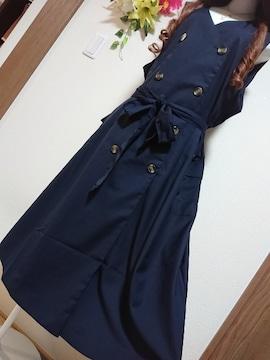 ★新品タグ6L★トレンチ系ジャンスカ¥7689