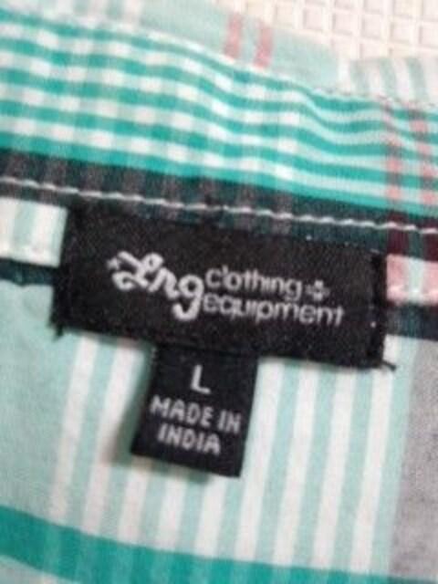 LRG チェックシャツ L キリン < ブランドの