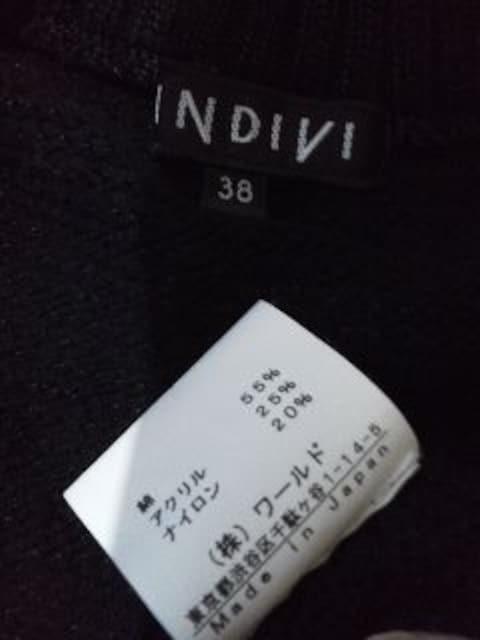 INDIVIWファスナー黒のシンプルなカーディガン/送料510円 < ブランドの